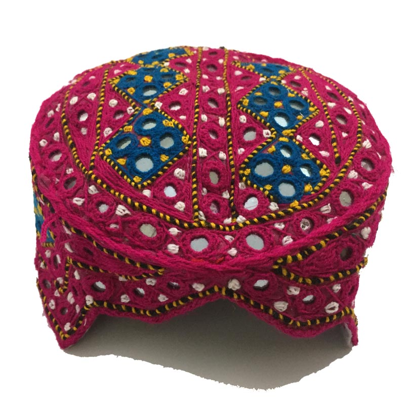 This image has an empty alt attribute; its file name is IMG_0304-handemade-sindhi-topi-cap.jpg